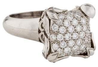 Carrera y 18K Diamond Pavé Floral Ring