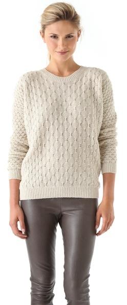 Vince Textured V Neck Sweater