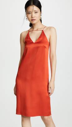 Rosetta Getty Strap Front Slip Dress