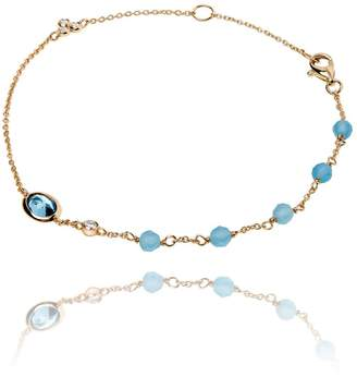 Dune Lark & Berry Blue Ellipse Bracelet
