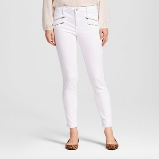 Mossimo Women's High Rise Skinny With Zipper Pockets White - Mossimo $29.99 thestylecure.com