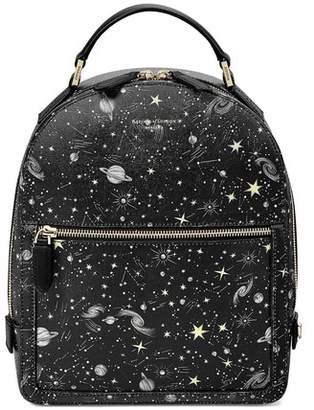 Aspinal of London Constellation Backpack In Black Constellation Print
