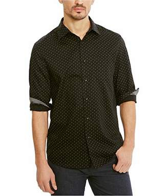 Kenneth Cole Reaction Men's Long Sleeve Colored Mini Triangle Shirt