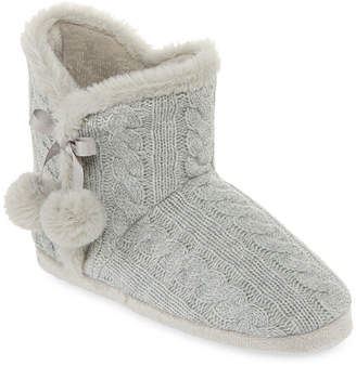 MIXIT Mixit Mommy and Me Cable Knit Bootie Slippers