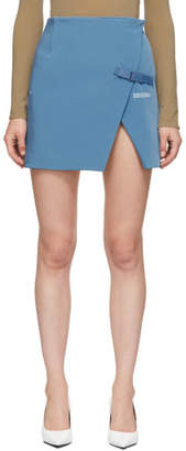 Off-White Off White Blue Stretch Wallet Miniskirt