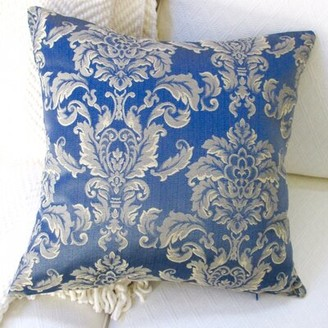 Artisan Pillows Morante in Bermuda European Damask Modern Pillow Cover Artisan Pillows