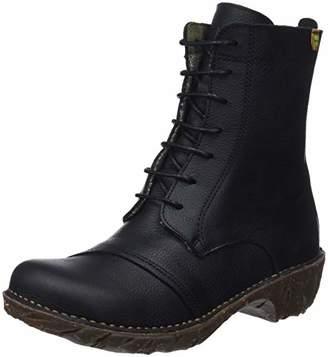 El Naturalista Women's Ng57 Soft Grain Black/Yggdrasil Combat Boots