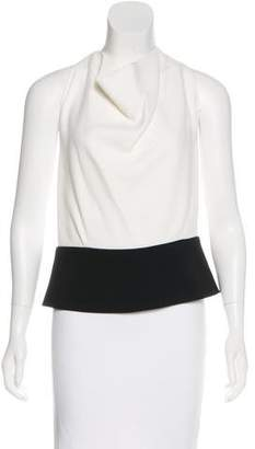 Roland Mouret Colorblock Sleeveless Top