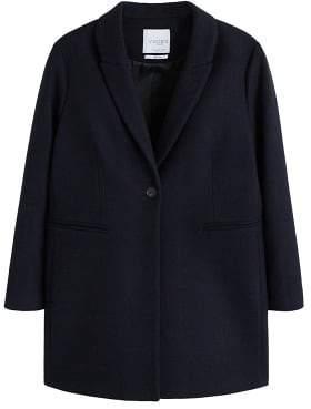 Violeta BY MANGO Wool-blend classic coat