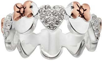 Disney's Minnie Mouse Two Tone Crystal Heart Ring $60 thestylecure.com