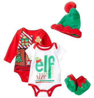 Baby Starters Holiday Bodysuits, Hat & Bootie Set (Baby)