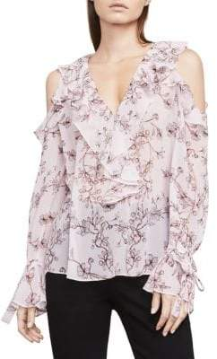 BCBGMAXAZRIA Laurenne Cold-Shoulder Top