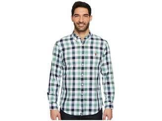 U.S. Polo Assn. Classic Fit Stripe, Plaid or Print Long Sleeve Sport Shirt Men's Clothing