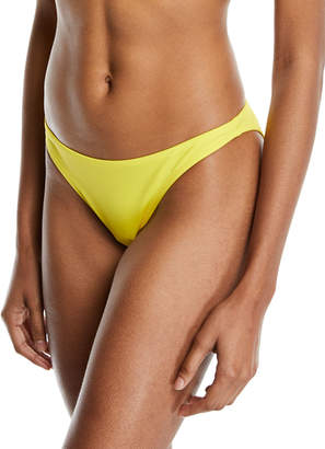 Milly St. Lucia Solid Swim Bikini Bottom Yellow