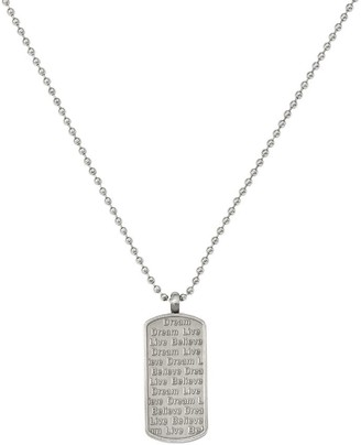 Steel By Design Steel by Design Live, Dream, Believe Pendant with Chain