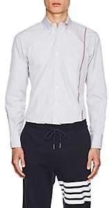 Thom Browne Men's Striped Cotton Poplin Shirt - White