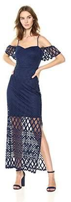 GUESS Women's Chevron Lace Maxi Dress