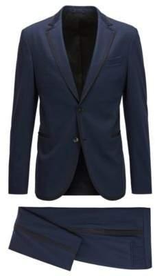 HUGO BOSS Tailoring Jersey Tuxedo, Slim Fit Novan/Ben 36S Dark Blue