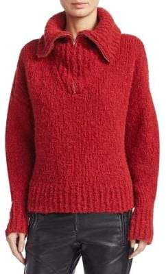Etoile Isabel Marant Saky Wool-Blend Cowlneck Sweater