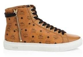MCM High-Top Logo Sneakers