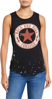 Chaser Rock Forever Paint Splattered Graphic Tank Top