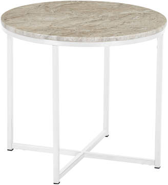 Webster Temple & Siena Round Marble Side Table