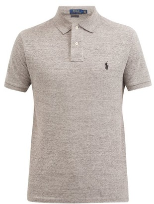 Polo Ralph Lauren Custom Slim Fit Cotton Pique Polo Shirt - Mens - Grey Multi