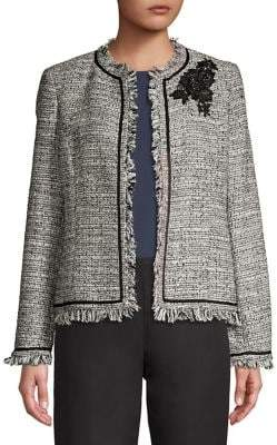 Nipon Boutique Open-Front Fringed Jacket