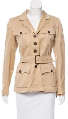 Alaia Notch-Lapel Belted Jacket w/ Tags