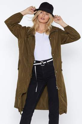 Nasty Gal Singing in the Rain Longline Parka