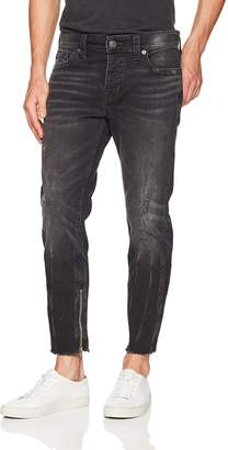True Religion Men's Frayed Fin Skinny Jean