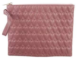 Reece Hudson Leather Zip Clutch