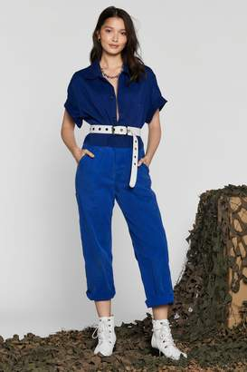 Nasty Gal After Party Vintage Boiler Room Jumpsuit