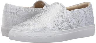 SKECHERS - Vaso - Metallic Snake Print Twin Gore Slip-On Women's Shoes $64.99 thestylecure.com