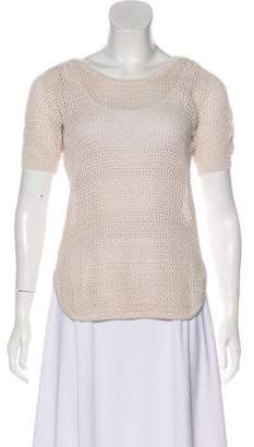 See by Chloe Short Sleeve Open Knit Top w/ Tags