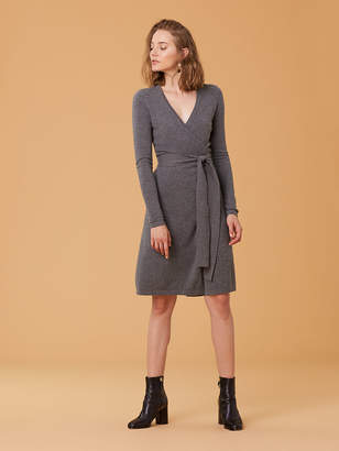 ca5da6cb770 Diane von Furstenberg New Linda Cashmere Wrap Dress