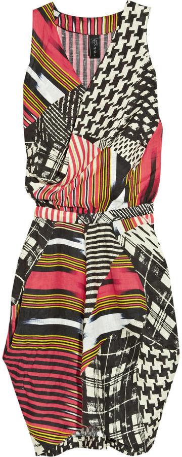 Zero+MariaCornejo Zazi tribal print linen dress