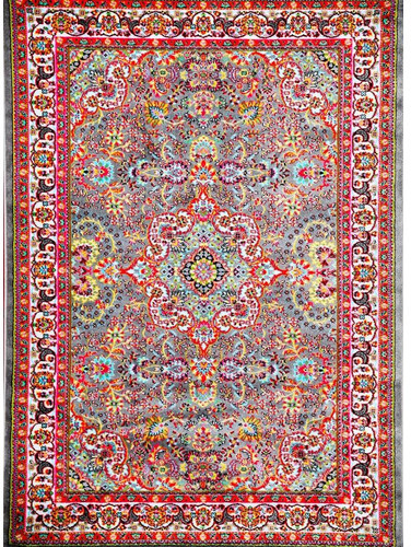 Persian-rugs Tobis Gray/Red Area Rug Rug