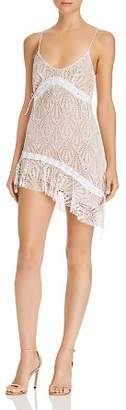 For Love & Lemons Bright Lights Lace Mini Dress