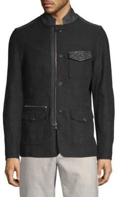 John Varvatos Front Zip & Buttoned Jacket