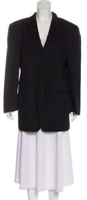 Donna Karan Wool Long Sleeve Blazer