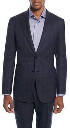 Brioni Men's Windowpane Two-Piece Wool-Silk Suit