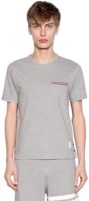 Thom Browne Cotton Jersey T-Shirt W/ Striped Details