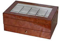 Mele Winston Burlwood Oak Finish Watch Box