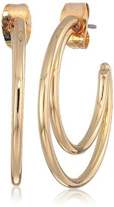French Connection Women's Small Double C Hoop Earrings