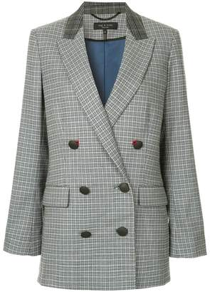 Rag & Bone Ellie checked blazer