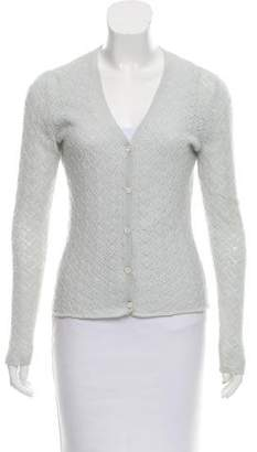 Loro Piana Cashmere Open Knit Cardigan