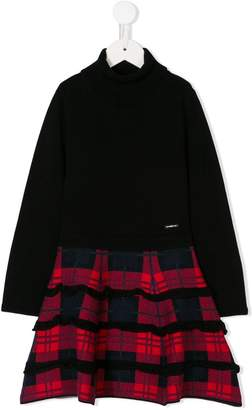 DSQUARED2 tartan knitted dress