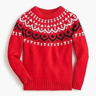 J.Crew Crewneck sweater in vintage Fair Isle