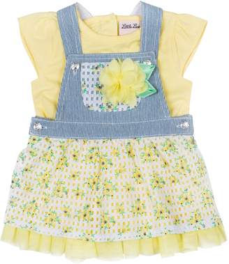 Little Lass Baby Girls Floral Skirtalls Set